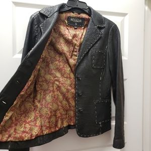 Raw 7 Distressed Leather Boho Blazer Jacket or OBO